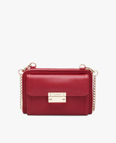 Tina Diabetes Mini Crossbody - Crimson