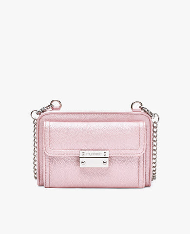 Tina Diabetes Mini Crossbody - Pink Frost