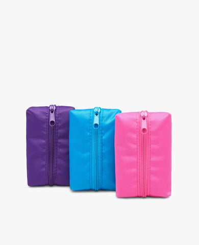 Waste Pouch 3-Pack - Pink, Purple, Light Blue
