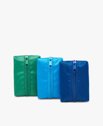 Waste Pouch 3-Pack - Green, Light Blue, Dark Blue