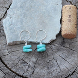 Amazonite stack earrings on sterling ear wires
