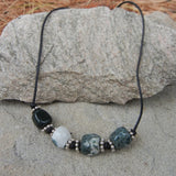 beaded cord necklace for men
