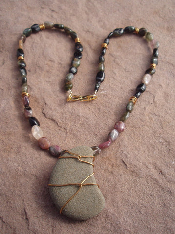 Selkirk moon stone pendant necklace