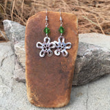 Sterling silver flowers with Swarovski crystal earrings