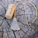 Sea glass pendant necklace