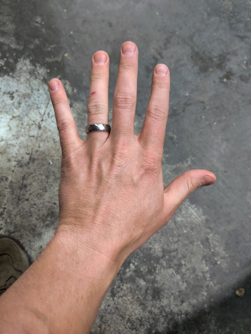 Anvil Rings Width | 6 mm Ring | What does a 6 mm ring look like?