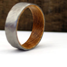 Load image into Gallery viewer, Hammered Whiskey Barrel Wedding Ring | Northbands