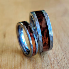 Load image into Gallery viewer, Hammered Ironwood Ring Set | Northbands