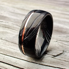 Black Damascus and Rose Gold