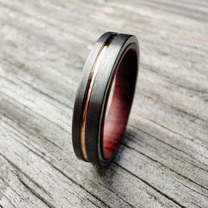 Desert Ironwood and Rose Gold Women's Ring | Northbands
