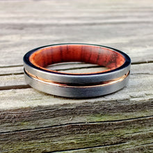 Load image into Gallery viewer, Desert Ironwood and Rose Gold Women's Ring | Northbands