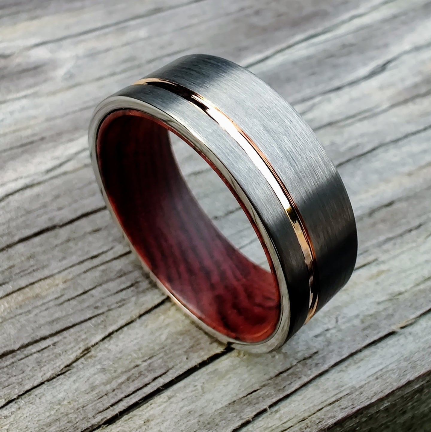Ironwood, Tungsten and Rose Gold