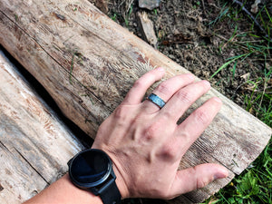 Man wearing meteorite Ring | Anvil Rings