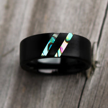 Load image into Gallery viewer, Blue Paua Abalone Wedding Ring | Northbands