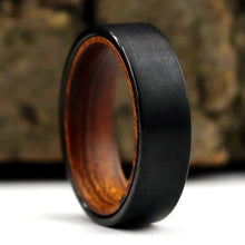 Black Tungsten and Ironwood Ring | Northbands