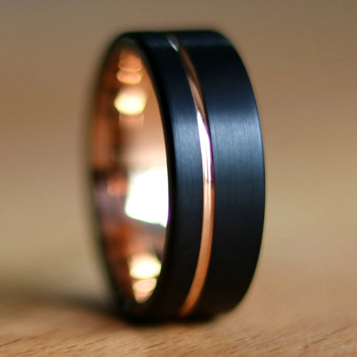 Black Rose Gold Wedding Ring | Northbands