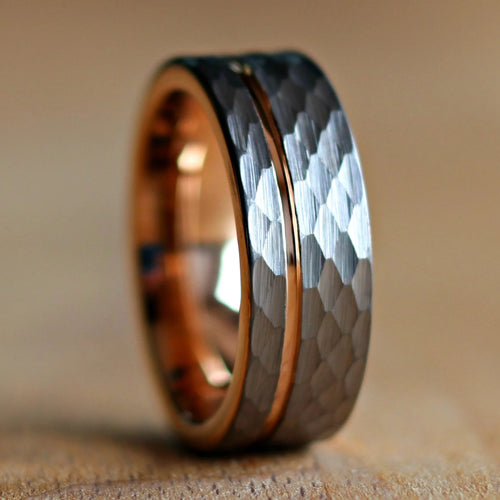 Unique Hammered Rose Gold Wedding Ring | Northbands