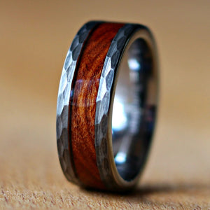 Hammered Desert Ironwood Ring | Northbands