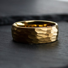 Load image into Gallery viewer, Hammered 18k Gold Wedding Ring | Northbands