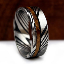 Load image into Gallery viewer, Whiskey Barrel and Damascus Ring | Northbands