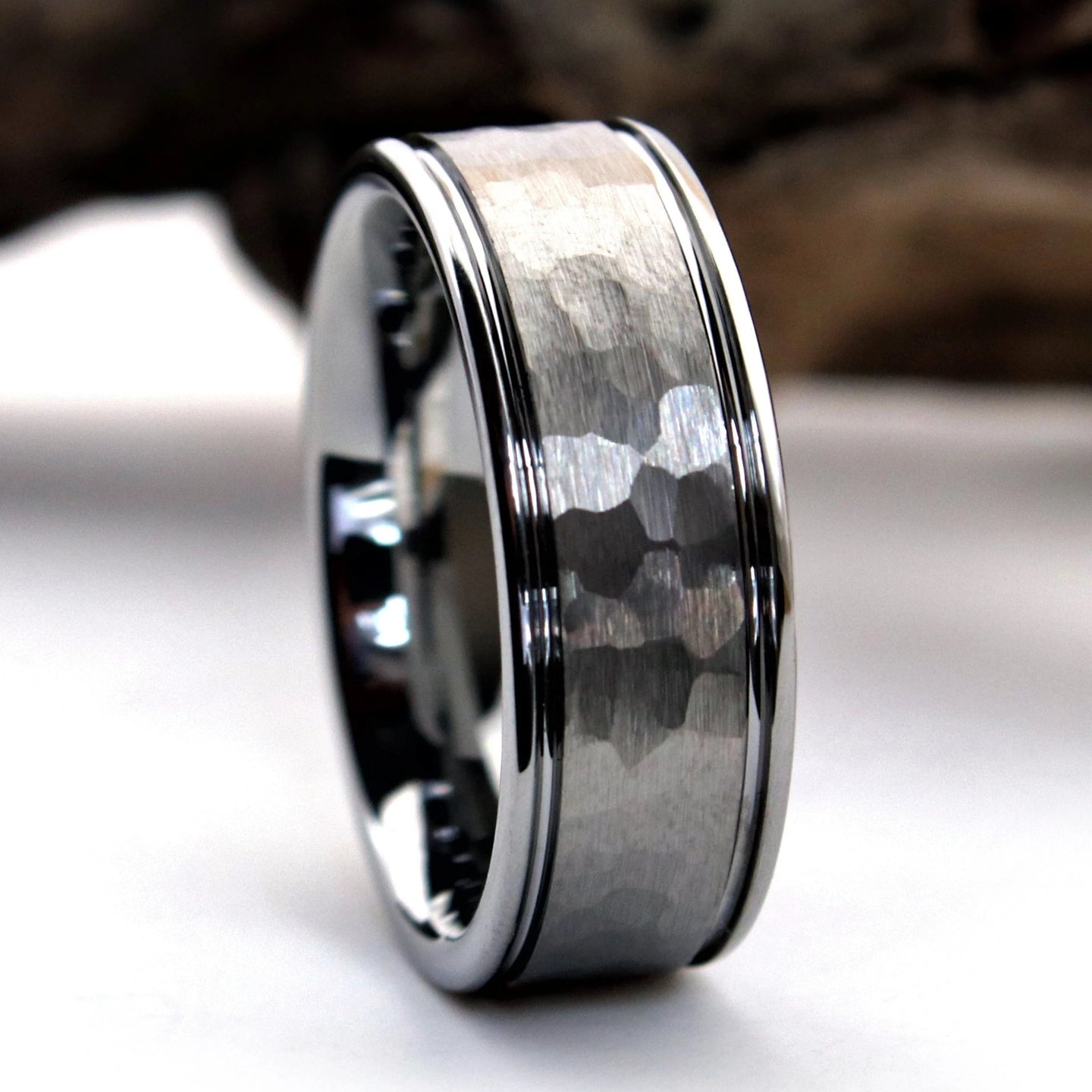 Hammered Tungsten Ring | Northbands