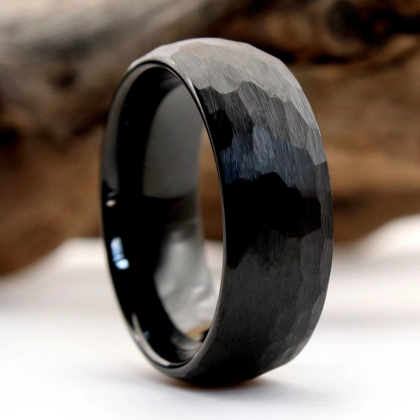 Hammered Black Ring | Northbands