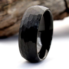 Load image into Gallery viewer, Hammered Black Ring | Northbands
