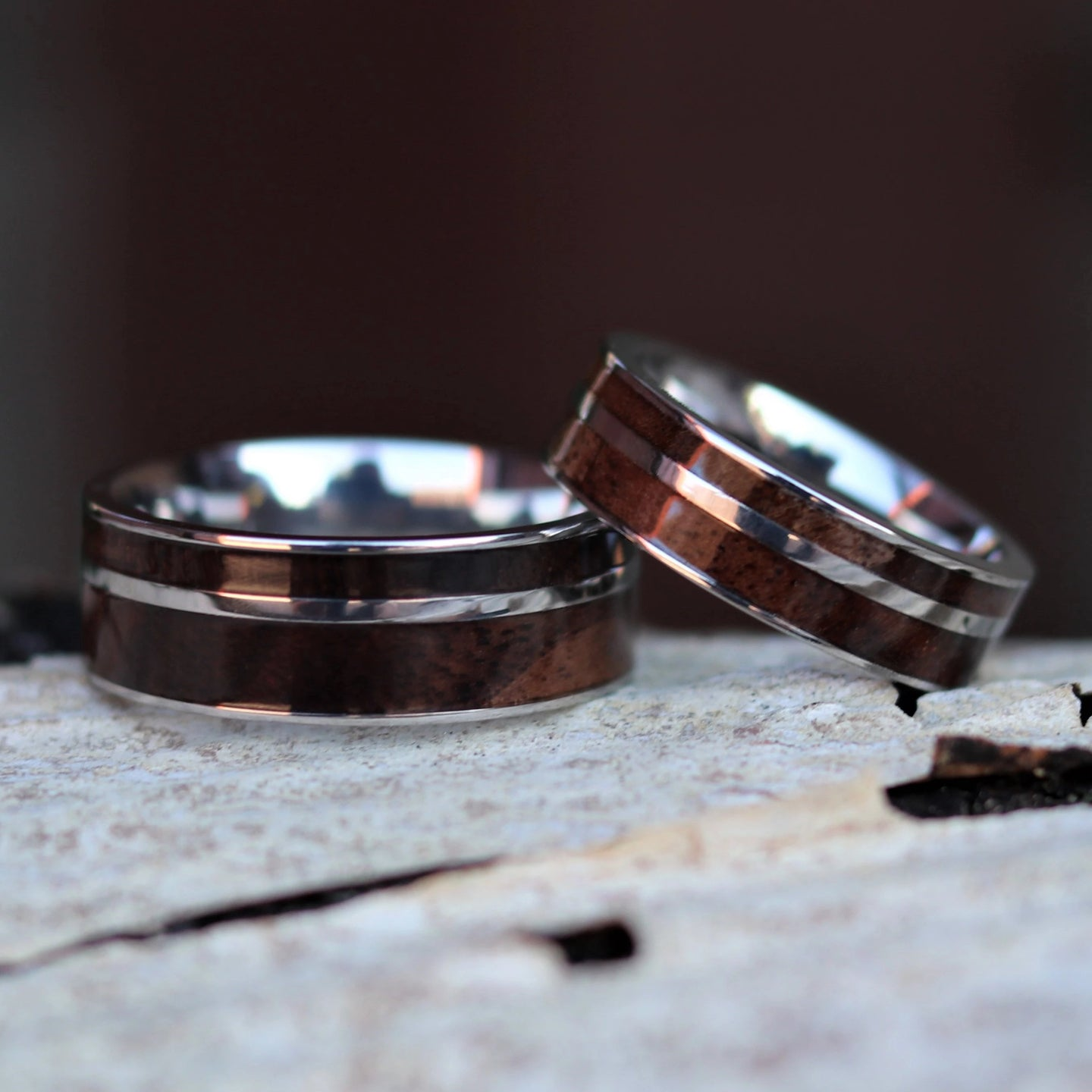Walnut Wood Ring Set | Northbands