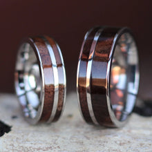 Load image into Gallery viewer, Walnut Wood Ring Set | Northbands