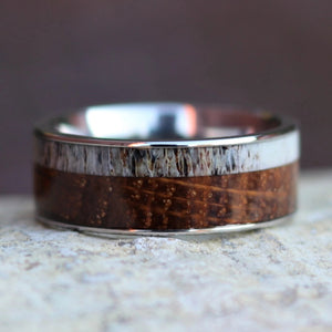 Antler and Whiskey Barrel Ring | Northbands