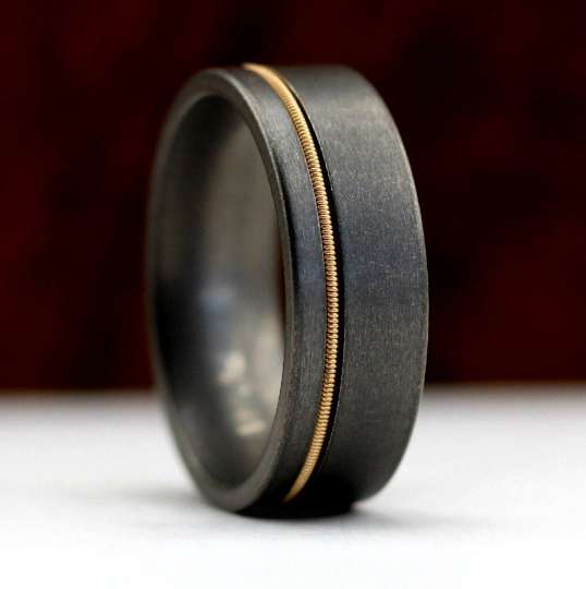 Gunmetal Guitar String Ring | Northbands