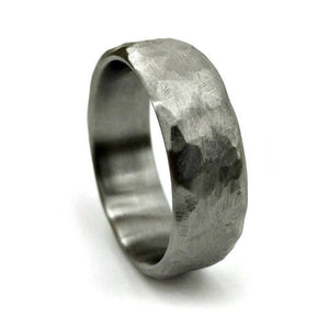 Hammered Titanium Ring | Northbands