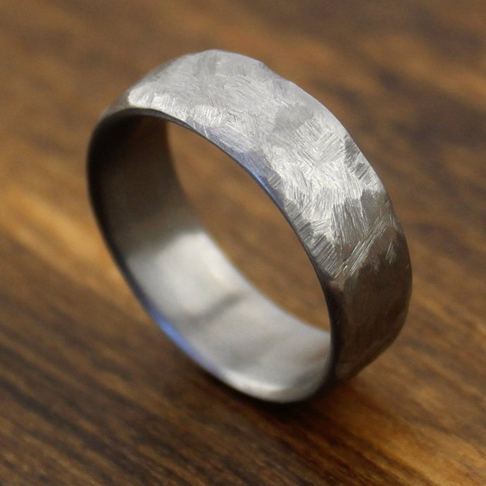 Hammered Titanium Wedding Band | Northbands