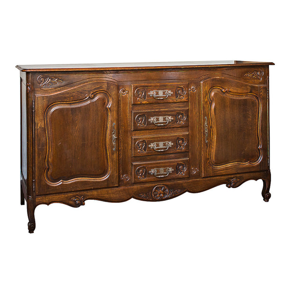 Louis XV Style French Oak Buffet France C 1900