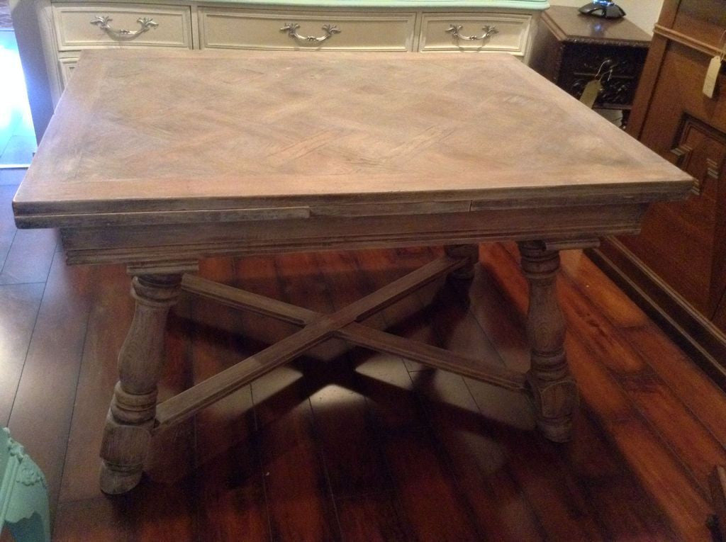 Vintage Bleached Oak Dining Table