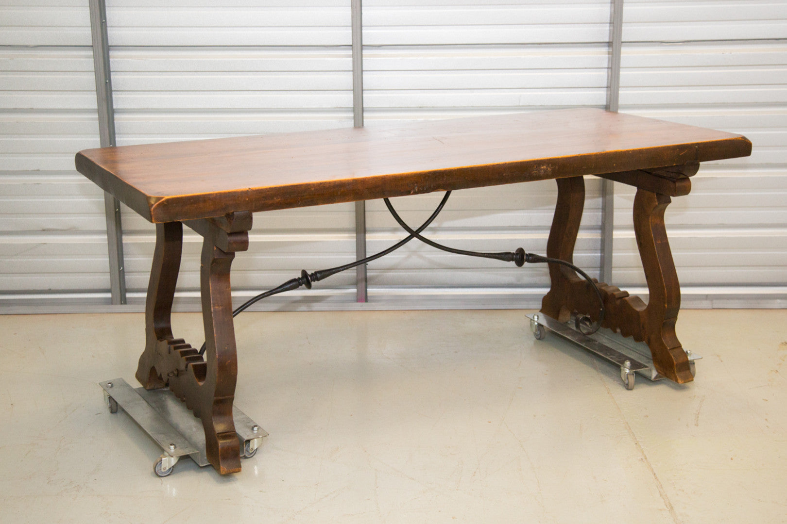 Spanish Trestle Table - 19th Century
