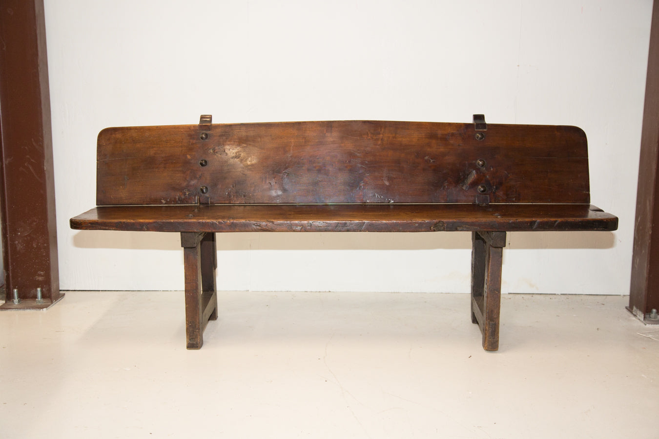 Antique French Louis XIII 17th Century Long Bench