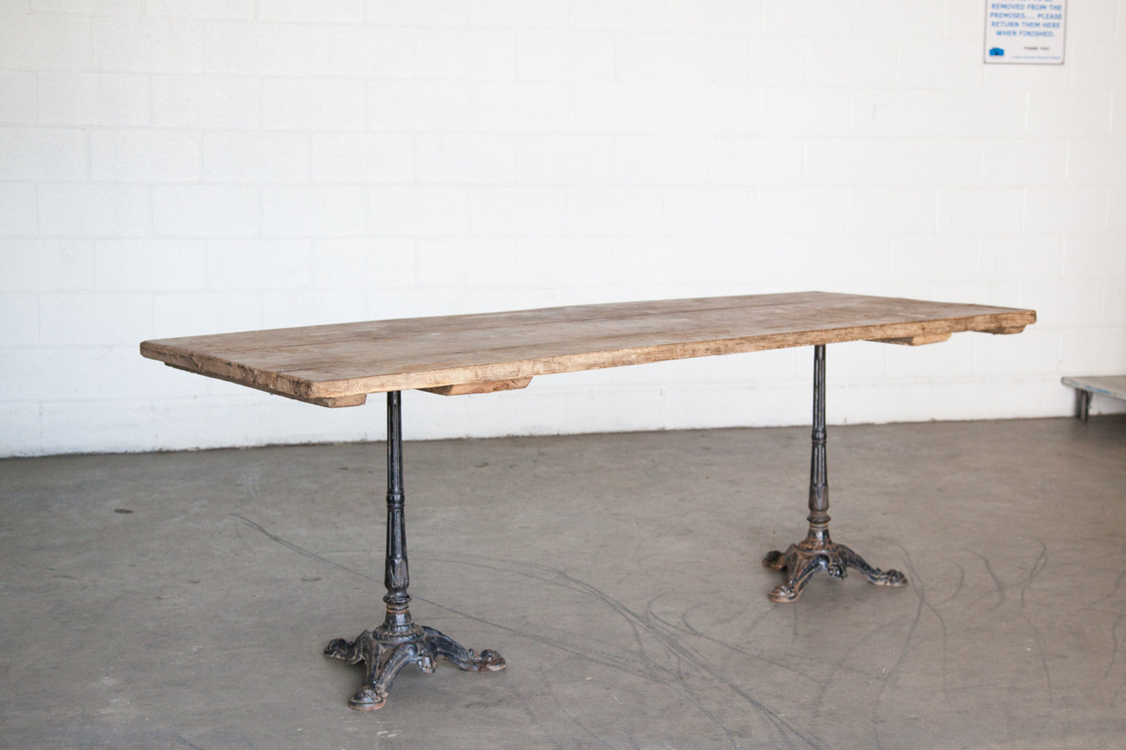 Wonderful Vintage Paris Farm Bistro Table