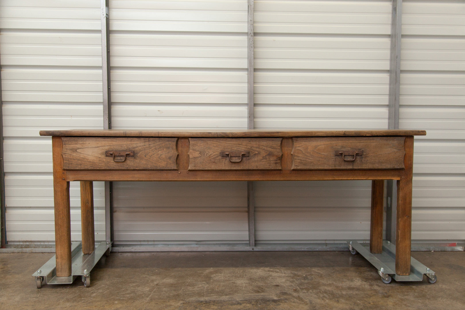 19th Century Washed Oak Console