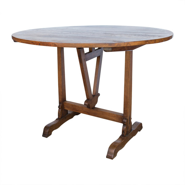 French Antique Tilt Top Wine Tasting Table