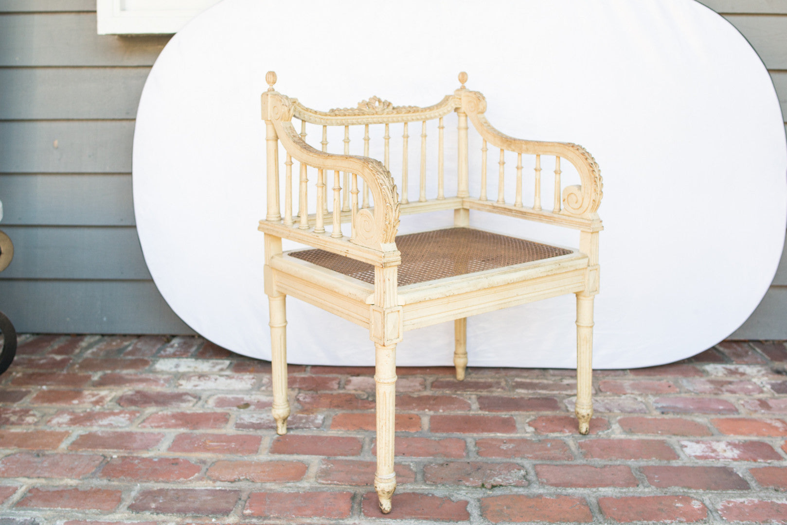 2 Elegant French Caned Armchairs 19th C. France