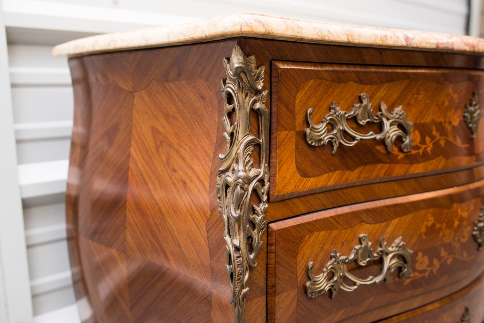 French Louis XV style Bombe Commode 19th Century