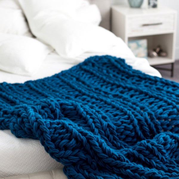 Arm Knit Ribbed Blanket Kit