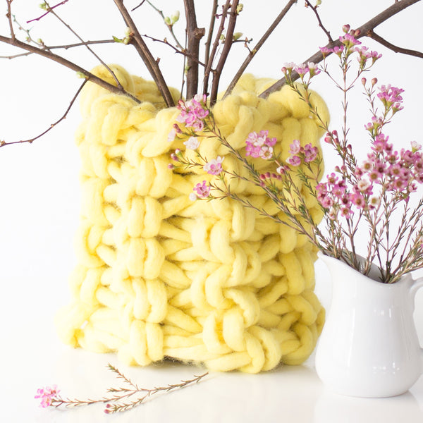 Arm Knit Chunky Vase Pattern