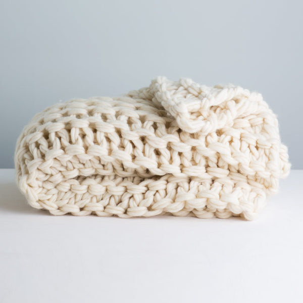 Big Garter Stitch Arm Knit Throw Kit