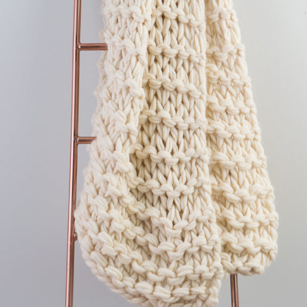 Big Garter Stitch Arm Knit Throw Pattern
