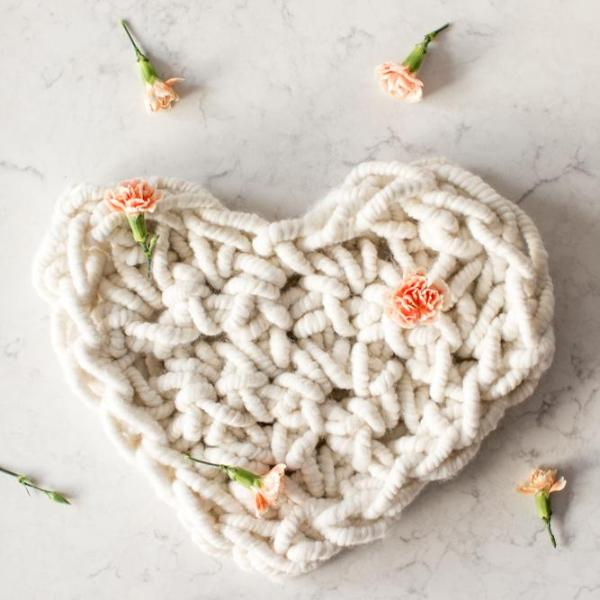 A Large Hand Crocheted Heart Kit