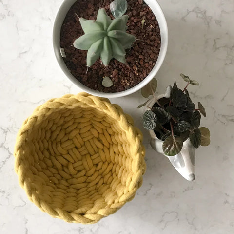 Felted Wool Twined Woven Bowl Pattern