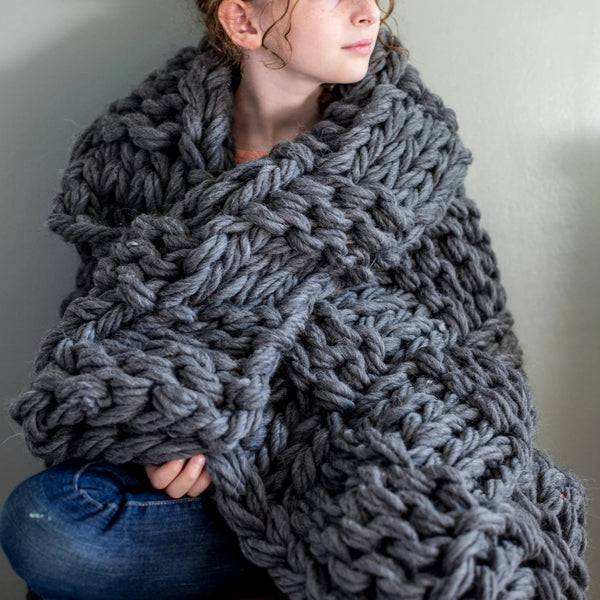 Chunky Basketweave Blanket Pattern