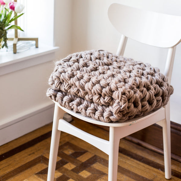 Custom Made Chunky Hand Crochet Blanket